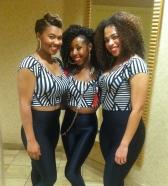 Deja Bryson & Dancers at Chris Brown party