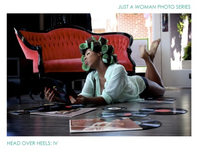 Just A Woman Photo Series Head over heels 4